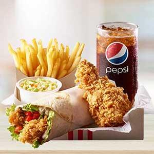 وجبات دجاج كنتاكي المتنوعة واللذيذة لشخص واحد كنتاكي المملكة